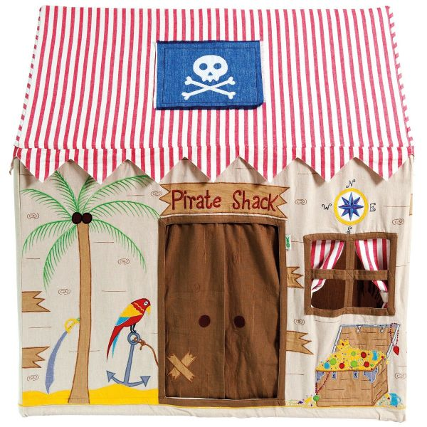 Children's Girls and Boys Large Win Green Pirate Shack Playhouse